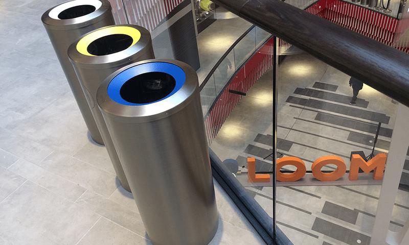 Abfalltrenner Edelstahl